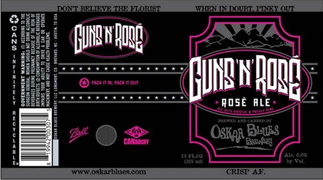 Guns 'N' Rosé beer
