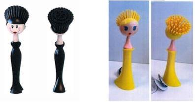 Dish brushes with feminine shapes
