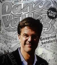Portretrecht; Poster Dance Valley met foto Mark Rutte verboden.