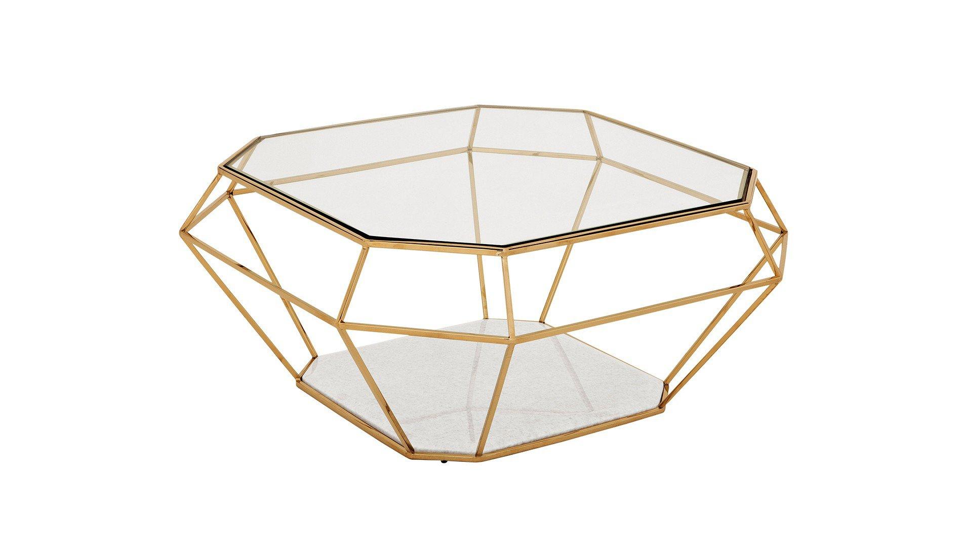 Tafel in de vorm van een geslepen diamant