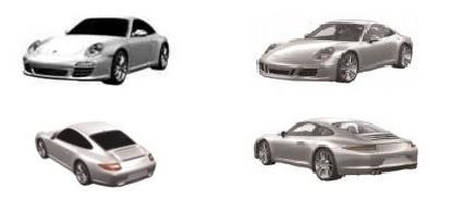 Model Porsche 911 nietig