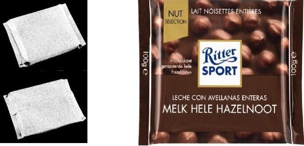 Milka slaat mis � Ritter Sport geldig vormmerk
