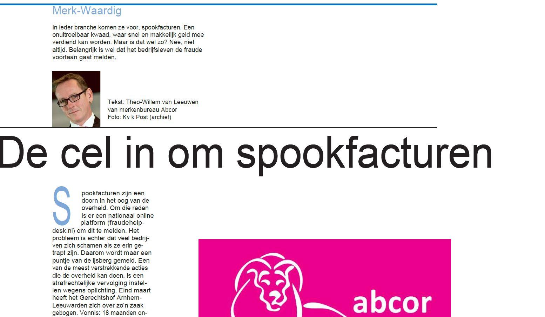 De cel in om spookfacturen (HDC kranten - Plus werken bijlage)